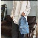 High Quality Schoolbags Jean Blue Shoulder Bags Crossbody Travel Bags Women Denim Blue Bags