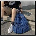 Leisure Bag Schoolbags Men and Women Jean Blue Backpacks Shoulder Bags Travel Bags Denim Daypack