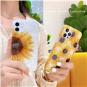 Oval Sunflower Protective Case Cover for iPhone