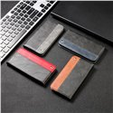 Business Solid Color Stitching Leather Phone Case