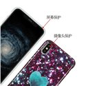Glitter Heart Marble Slim Shockproof Flexible Bumper Soft Rubber Silicone Cover Phone Case