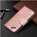 Binfen Color BF04 Crocodile Color Block Stitching Leather Wallet Phone Case Cover
